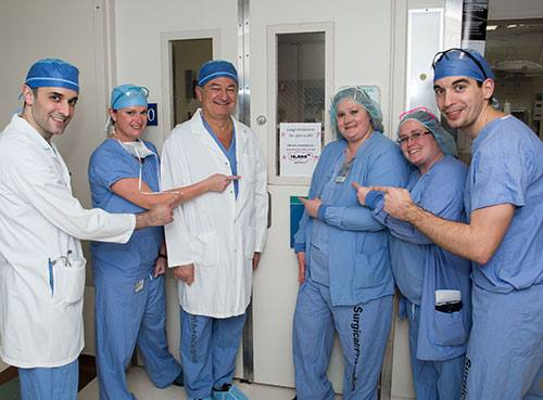 Dr. Gloviczki and his team.