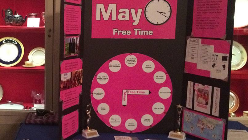The Mayo Free Time mobile app takes Rylee Melius, Lydia Mindermann and Andrea Richard all the way to the White House China Room.