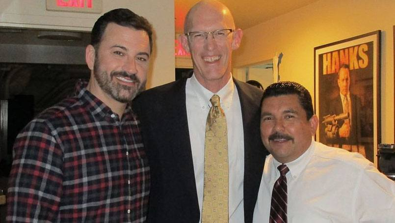 Jimmy Kimmel, Dr. Greg Poland and Guillermo Rodriguez.