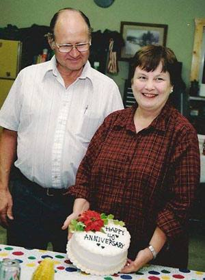 Mary and Dennis Jensen on their 40th anniversary.