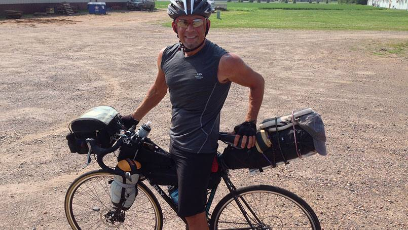 In 2016, George Maurer will journey by bike across Iceland to raise money for cancer research in honor of Carolyn A. Held.