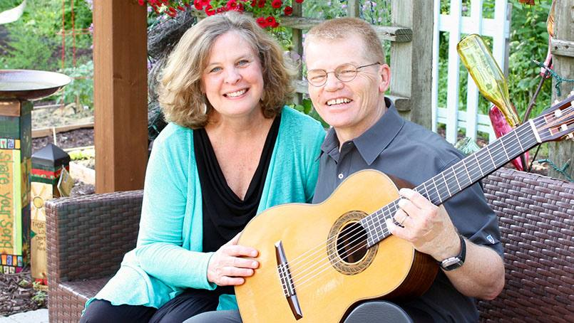 Sue and Mike Eversman sing about their cancer journeys.