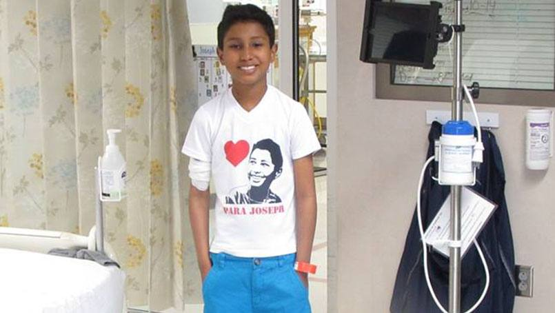 Joseph Gonzalez-Salas's was received a new heart for his 11th birthday.