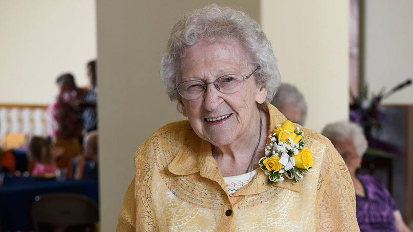 Sister Lauren wanted to talk about her future goals at the celebration of her 95th birthday.