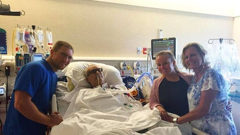 When Brooke Skahill's father, Scott Falline, was hospitalized with heart failure a month before her wedding, she was worried he would miss out on her big day. But staff at Mayo Clinic found a way to bring the wedding to Scott.