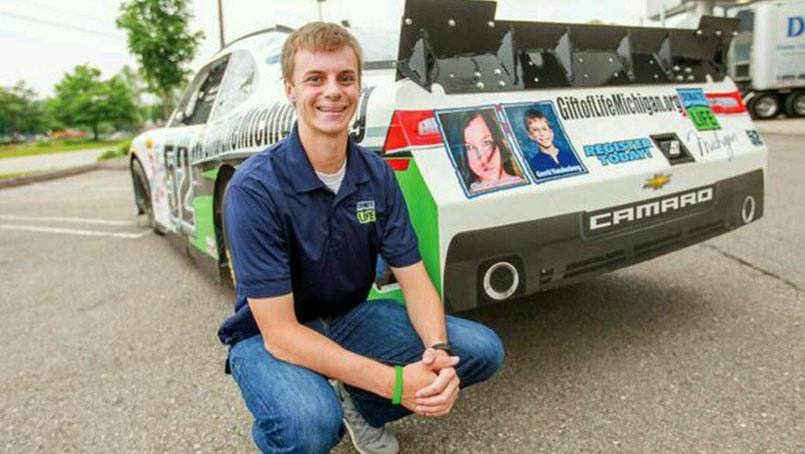 After losing his mom to a sudden brain aneurysm, professional race car driver Joey Gase was thrust into the world of organ donation. He uses his professional platform to help raise awareness for organ donation.
