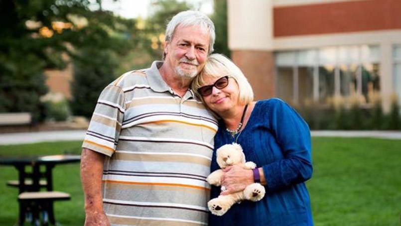 Brian Cline wanted to find a way for Debbie Pollino to feel that joy of hearing her son's heart beating. With the help of Mayo Clinic Health System staff, they captured a 30-second recording that was placed inside a teddy bear, which Brian gave to Debbie.