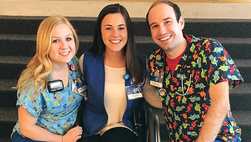 Ben Groteboer and Allison Galkowski have been close to Hanna Hughes since kindergarten. Hanna's closest friends found their callings during the days and nights spent at her bedside.