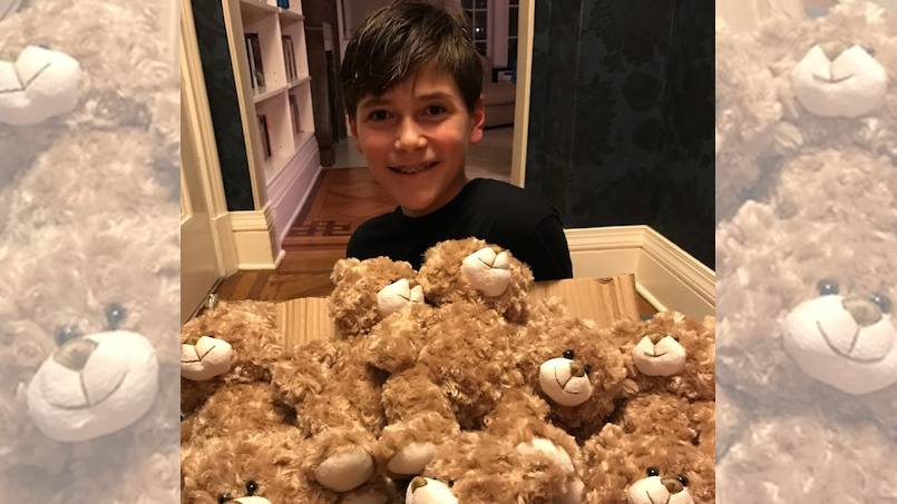 A teddy bear from the Saint Marys' gift shop helped Henry Brown get some much needed sleep during his recovery from surgery. After he went home to New York, he started a summer project detailing cars to help him buy bears for other Mayo patients.