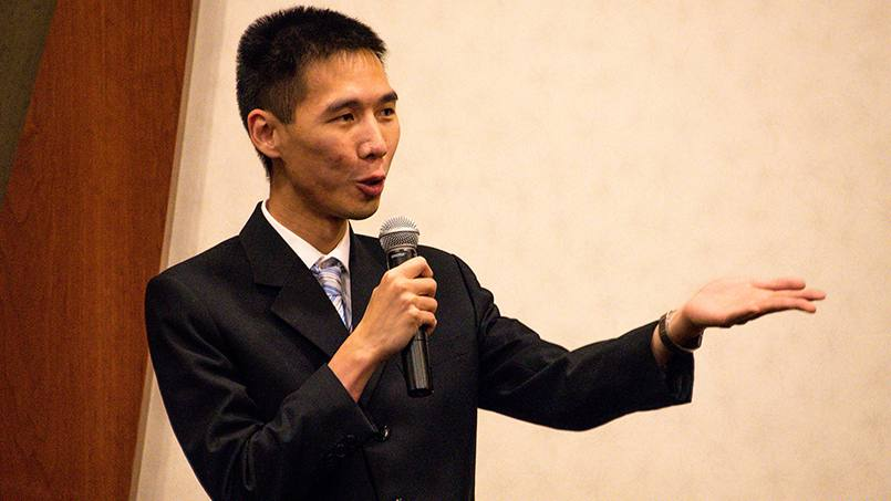 Nhien Chau used to be very afraid of speaking in front of other people. Now, he's entering – and winning – district-level speech contests thanks to his ongoing membership in Toastmasters.