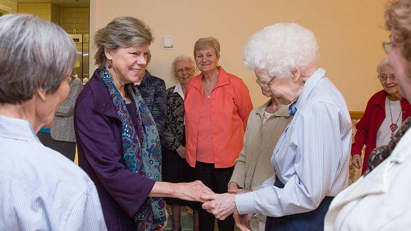 "Journalist Cokie Roberts has talked to many interesting people over the years. Among her favorites? Women — like the Sisters of Saint Francis — who devote their lives to the church. Roberts, a Mayo Clinic Trustee, recently visited with some of the sisters, and says what she learned from them ""adds a dimension to my tremendous appreciation for this place."""