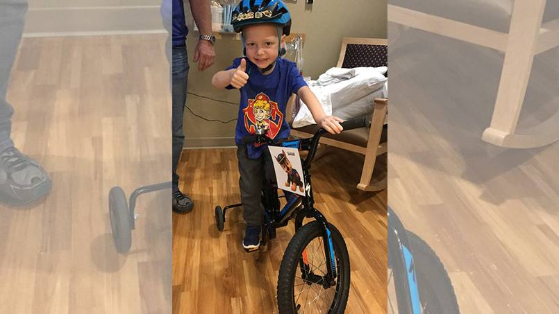 When Sam Davidson first came to Mayo Clinic for six weeks of proton beam therapy treatments, he was so scared that he wouldn't get out of the wagon his parents pulled him in from their car. Sam's feelings have since changed. Significantly.