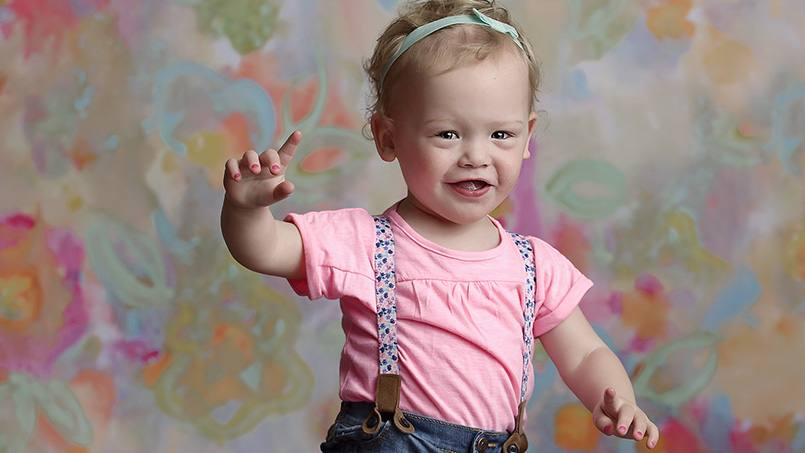Despite being born three months premature, Finleigh Strike has grown into a happy, healthy, and normal two-year-old girl. And it's all thanks to the work of Finleigh herself, and that of the Neonatal Intensive Care Unit at Mayo Clinic who helped to care for her.