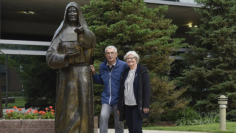 Gerard Moes, a direct descendant of Mother Alfred Moes, and his wife Margit recently visited Rochester and Mayo Clinic for a look at what's become of the medical institution his great aunt helped to create alongside Dr. William Worrall Mayo.