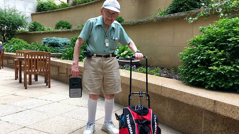 Over 30 years ago, Andy Romaniuk took his doctor's advice and started walking. And he hasn't stopped since, logging thousands of miles. Recently, Andy started playing polka music on his walks – a tribute of sorts to his late wife.
