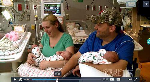 After suffering an accident at the age of 16 that left him a quadriplegic, Bill Heilman didn't know if he'd ever be able to have children. The answer to that question, however, came threefold after he and Mayo Clinic Health System pediatric nurse Joleen Deutschmann welcomed identical triplet girls into their family.