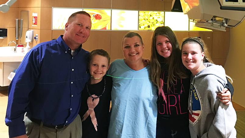 Pam Roe completed her last proton beam therapy treatment and now wants to give back.