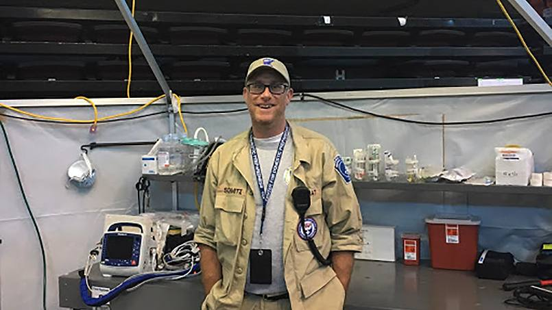 Chad Schmitz has been a member of the Minnesota Disaster Medical Assistance Team, donating his time and expertise wherever and whenever it's needed for the past four years.