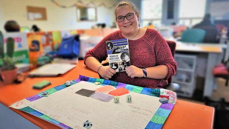 Seventh-grader Samantha Pollack enjoyed reading Women of Mayo Clinic: The Founding Generation so much that she used it as the foundation for a new board game and school project.