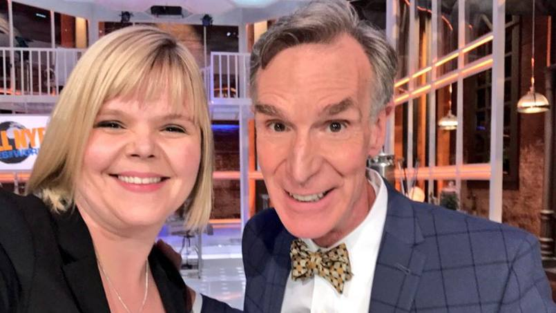 Kristin Swanson, Ph.D., a math oncologist at Mayo Clinic, was recently a guest on Bill Nye Saves the World, telling the original science guy about her work to improve cancer treatment for patients who have brain tumors.