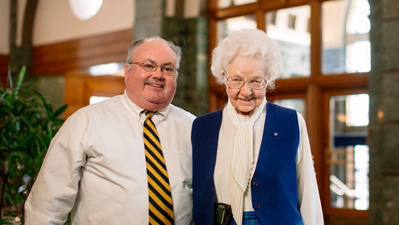 John Murphy with Sister Antoine Murphy