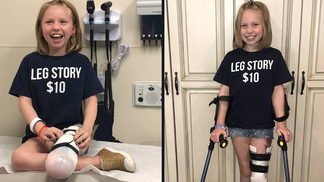When she was in second grade, Abri Bentley was diagnosed with a rare form of cancer. Today, she's adjusting to life without part of her leg, and using her voice and experiences to help others.
