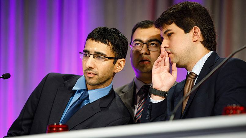 Yogesh Reddy, M.B.B.S., Vaibhav Vaidya, M.B.B.S., and William Miranda, M.D., recently took home top honors in the American College of Cardiology's latest Fellows-in-Training Jeopardy competition in Orlando, Florida.