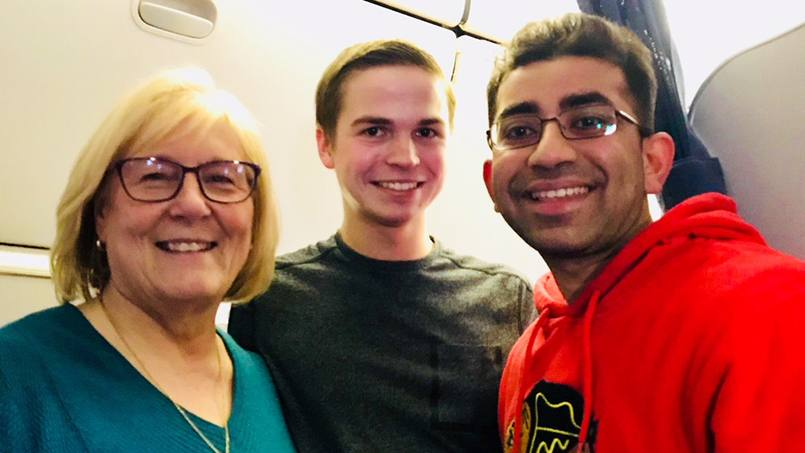 Early last month, Infectious Diseases Fellow Aditya Shah, M.D., was on a return flight to Minneapolis when his medical training at Mayo Clinic was called into action.