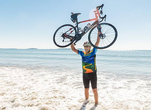 After Diagnosis, Patient Cycles Across the Country and Raises Money for Research