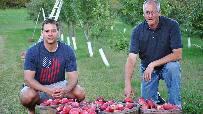 For almost three decades, Steve Eckdahl has worked the evening shift in Mayo Clinic's Toxic Metals lab in order to pursue another passion of his during the day: his 2,000-plus-tree apple orchard.