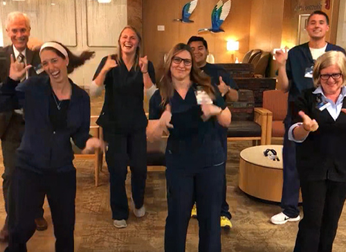 Radiation Therapy Staff Take on the KeKe Challenge for Special Patient