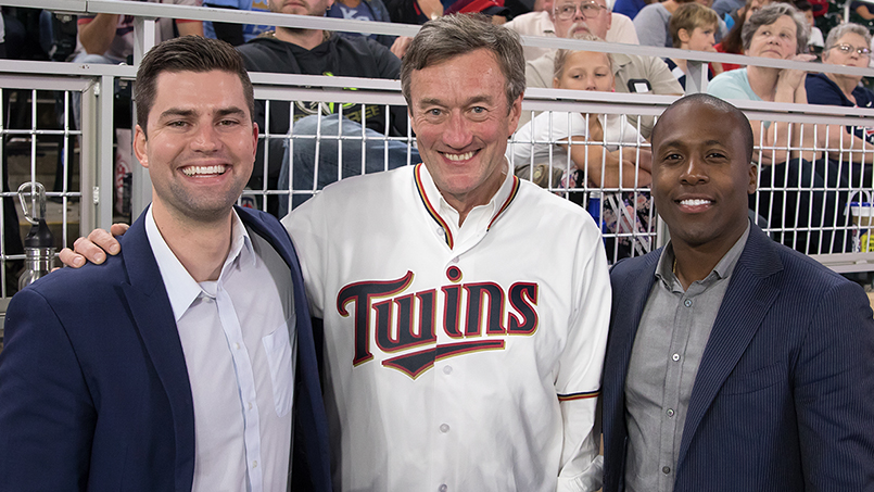 It was all things Mayo Clinic at a recent Minnesota Twins game when Dr. John Noseworthy threw out the first pitch, Mayo surgeons shared their musical talents, and fans went home with Mayo-approved swag.
