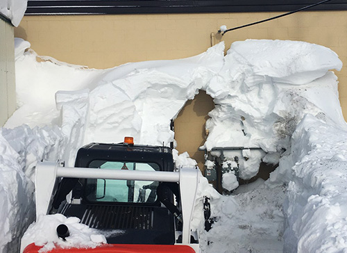Snow Problem: Staff Work Around the Clock to Keep Mayo Open During Blizzard
