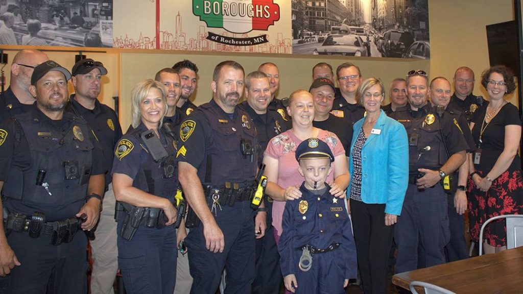 Stephanie Kenning's 8-year-old son, Coltin, was given the star treatment by the Rochester Police Department after his mom contacted them hoping to take his mind off of his health issues.