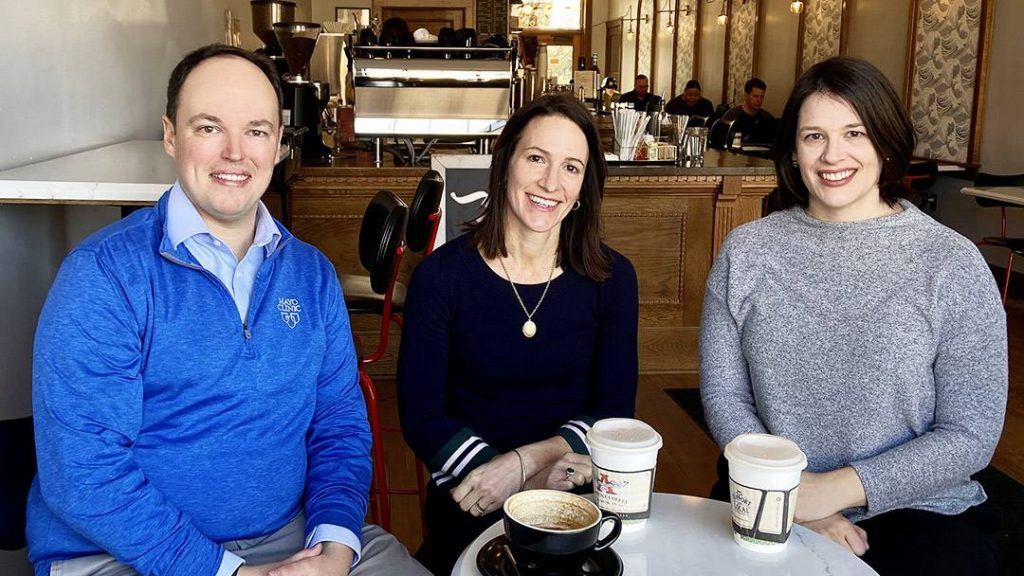 Colin Fly, Alicia Bartz and Amy White.