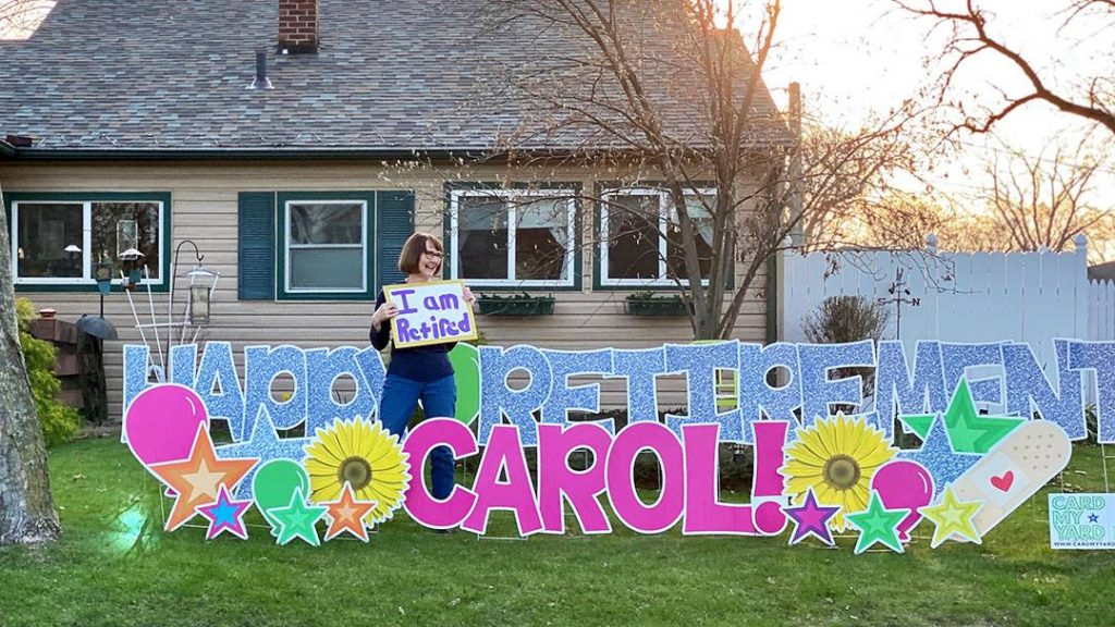 Carol Nash was retiring from Mayo Clinic after 40 years of service, and her co-workers made sure she had a proper send-off even during COVID-19.