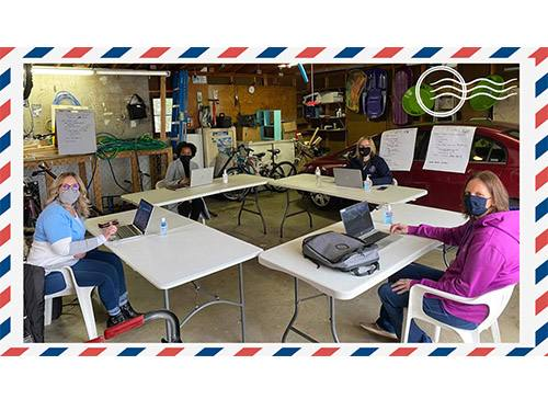 Postcards from anywhere: Banding together in new ways, even gathering in a garage