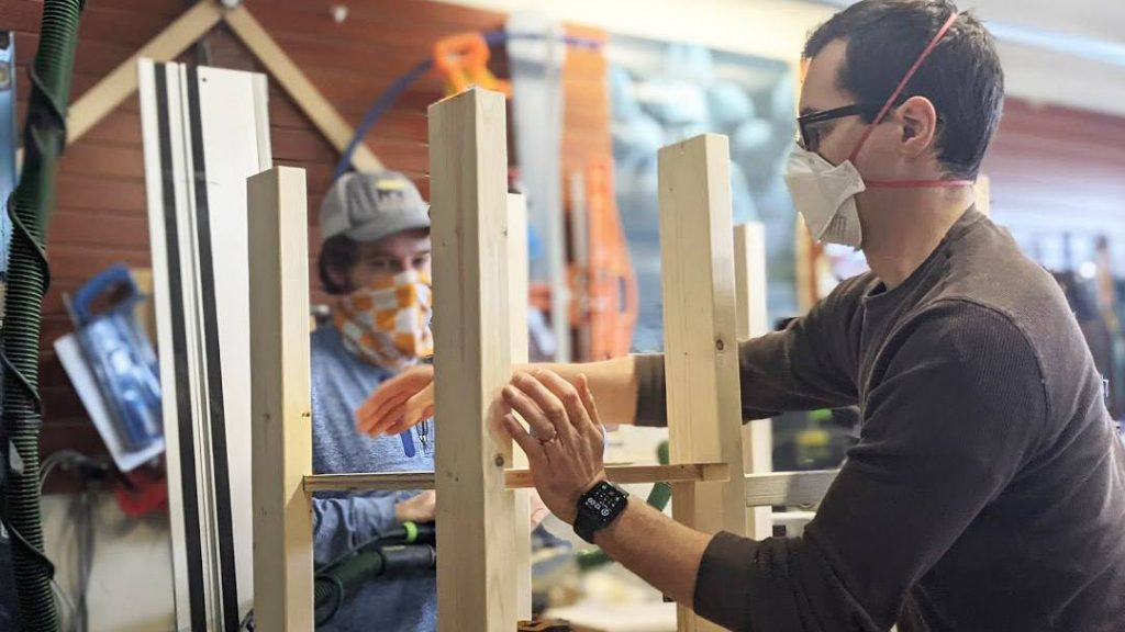 Ilia Shadrin, M.D., Ph.D., an internal medicine resident at Mayo Clinic, has joined forces with Michael Dean, another woodworking hobbyist, to build desks for children in Rochester who need them. They're at 30 desks and counting.