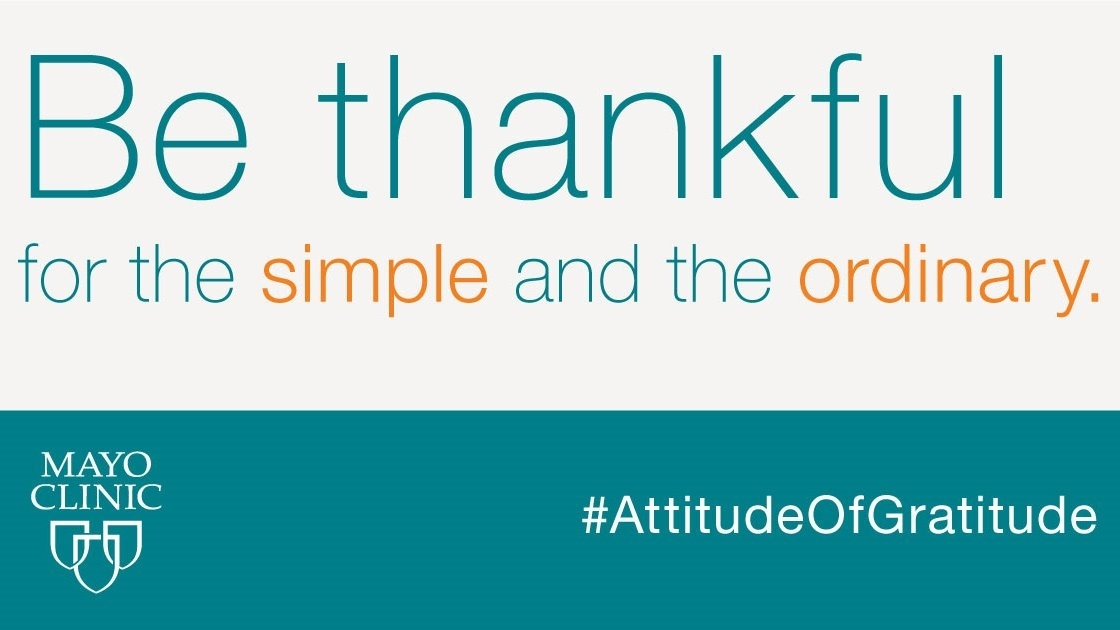 Be thankful for the simple and ordinary