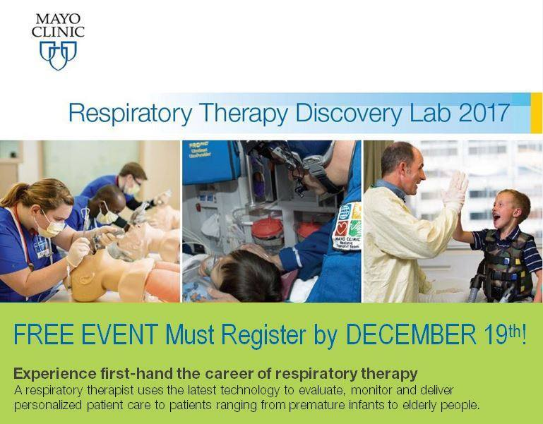 Registration Due for Respiratory Therapy Discovery Lab