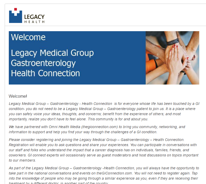 TheGIConnection and Legacy Medical Group – Gastroenterology