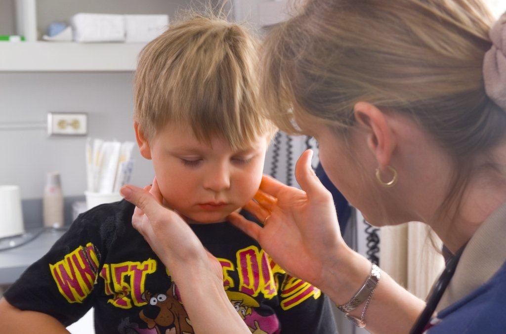 Sick Child being examined