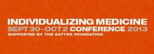 Orange logo graphic for CIM Conference - Center for Individualized Medicine Sept. 30 - Oct. 2