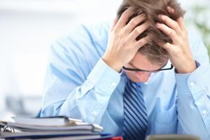 Man with Migraine Headache