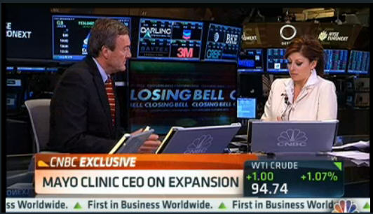 Mayo Clinic CEO Dr. Noseworthy on CNBC Closing Bell w/ Maria Bartiromo 6-7-2013