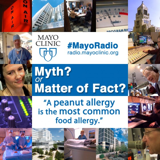 Mayo Clinic Radio Graphic - A peanut allergy is the most common food allergy