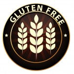 gluten free logo button with illustration of wheat stalks