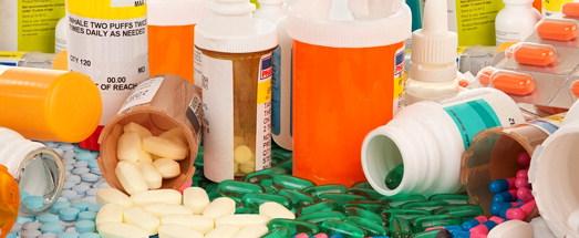 pills and pill bottles
