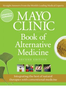 Green book cover of the Mayo Clinic Book of Alternative Medicine