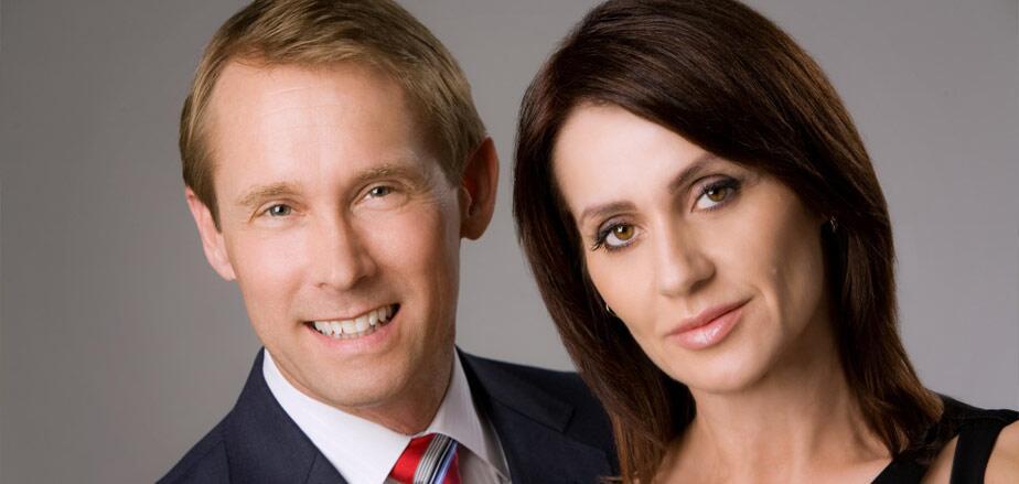 Closeup photo of Olympians Bart Connor and Nadia Comaneci